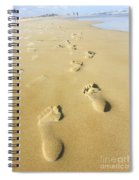 Human Footsteps In The Sand Spiral Notebook
