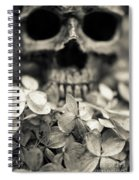 Human Skull Among Flowers Spiral Notebook
