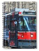 Humber Bound Streetcar On Queen Street Spiral Notebook