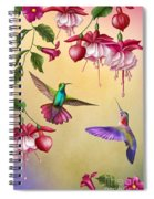 Humming Birds And Fuchsia-jp2784 Spiral Notebook