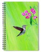 Hummingbird And Sweet Peas Spiral Notebook