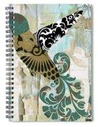 Hummingbird Batik Spiral Notebook