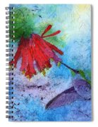 Hummingbird Batik Watercolor Spiral Notebook