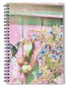 Hummingbird In The Garden Spiral Notebook
