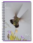 Hummingbird Wings Spiral Notebook