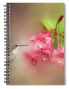 Hummingbird With Flowers Spiral Notebook