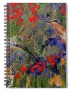 Hummingbirds 2, Abstract Art Spiral Notebook