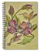 Hummingbirds And Hibiscus Spiral Notebook