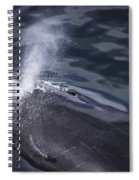 Humpback Whale Blowing Spiral Notebook