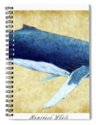Humpback Whale Painting - Framed Spiral Notebook