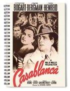 Humphrey Bogard And Ingrid Bergman In Casablanca 1942 Spiral Notebook