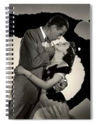 Humphrey Bogart Ava Gardner The Barefoot Contessa Collage 1954-2016 Spiral Notebook