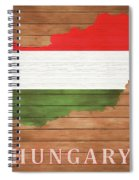 Hungary Rustic Map On Wood Spiral Notebook