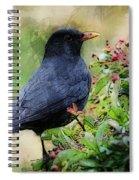 Hungry Blackbird Spiral Notebook