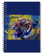 Portrait Of A  Tiger Spiral Notebook