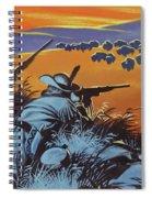 Hunting Buffalo In America Spiral Notebook