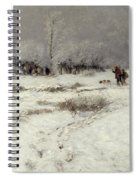 Hunting In The Snow Spiral Notebook