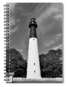 Hunting Island Lighthouse Beaufort Sc Black And White Spiral Notebook