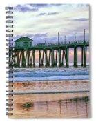 Huntington Beach Pier Panorama Colo Spiral Notebook