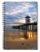 Huntington Beach Pier Sunset Spiral Notebook