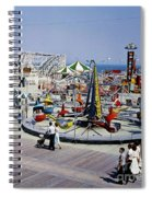 Hunts Pier On The Wildwood New Jersey Boardwalk, Copyright Aladdin Color Inc. Spiral Notebook