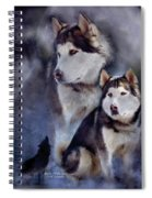 Husky - Night Spirit Spiral Notebook