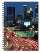 Hustle And Bustle Of Atlanta Roadways Spiral Notebook