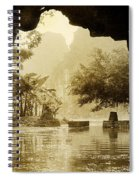 Hut In Tam Coc From A Cave River Spiral Notebook