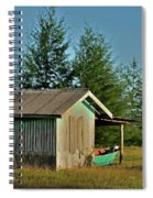 Hut With Green Boat Spiral Notebook