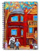 Hutchison Street Sabbath In Montreal Spiral Notebook