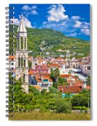 Hvar Architecture And Nature Vertical View Spiral Notebook