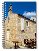 Hvar Old Stone Church And Antic Steps Spiral Notebook