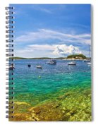 Hvar Yachting Beach Panoramic View Spiral Notebook