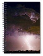 Hwy 52 - 08-15-2010 Lightning Storm Image 42 Spiral Notebook