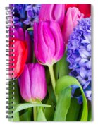 Hyacinth And  Tulip Flowers Spiral Notebook