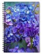 Hydrangea Bouquet - Square Spiral Notebook