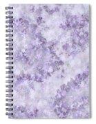 Hydrangea Digital In Lilac Spiral Notebook