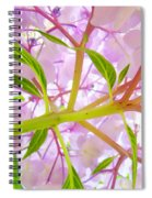 Hydrangea Flower Inside Floral Art Prints Baslee Troutman Spiral Notebook