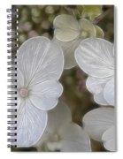 Hydrangea Fractalius Spiral Notebook