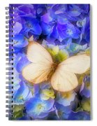 Hydrangea With White Butterfly Spiral Notebook