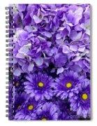 Hydrangeas And Daisies So Purple Spiral Notebook