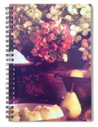 Hydrangeas And Pears Vignette Spiral Notebook