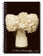 Hydrangeas In Sepia Spiral Notebook