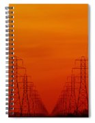 Hydro Power Lines And Towers Spiral Notebook