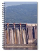Hydroelectric Power Plants On River Spiral Notebook