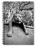 Hyena On The Wall Spiral Notebook