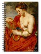 Hygeia - Goddess Of Health Spiral Notebook