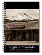 Hygiene Colorado Bw Fine Art Photography Print Spiral Notebook