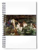 Hylas And The Nymphs John William Waterhouse Spiral Notebook