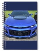 Hyper Blue Metallic 2017 Chevrolet Camaro Zl1 Spiral Notebook